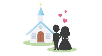 教会(チャペル)の「バージンロード」から「結婚証明書への署名」